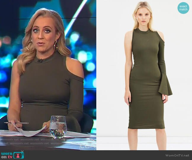 Bow Back Flare Pencil Dress by By Johnny. worn by Carrie Bickmore  on The Project