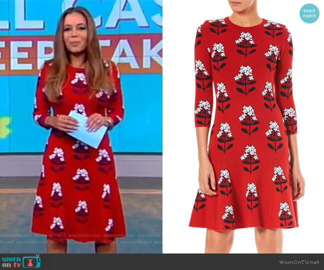Floral Knit A-Line Dress by Carolina Herrera worn by Sunny Hostin  on The View