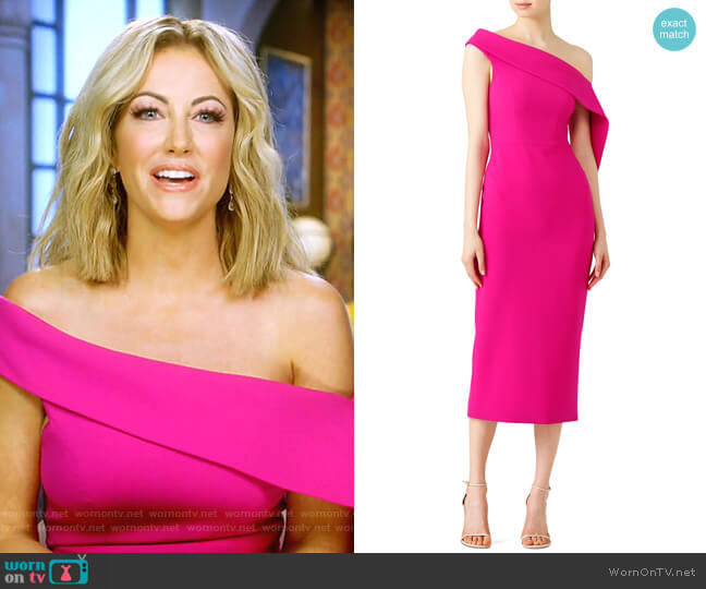 Fuchsia Dress by Christian Siriano worn by Stephanie Hollman (Stephanie Hollman) on The Real Housewives of Dallas