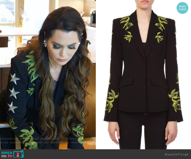 Orchid Pax Blazer by Cinq a Sept worn by D'Andra Simmons  on The Real Housewives of Dallas