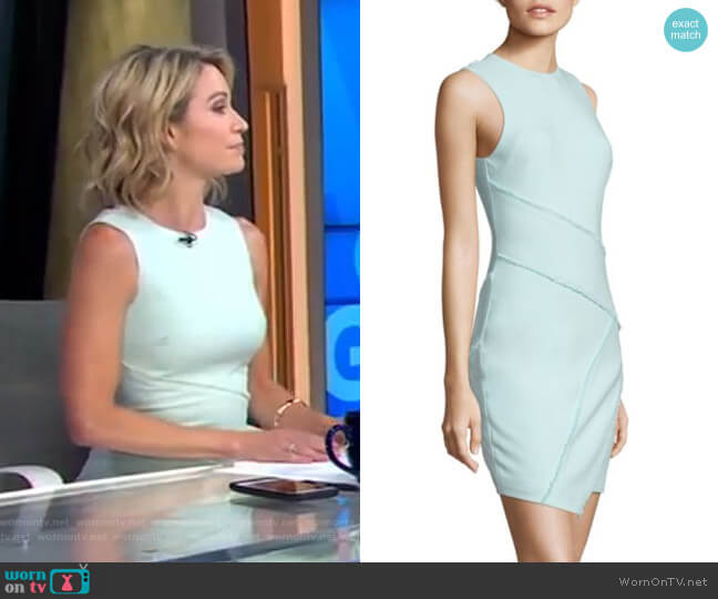 Josie Dress in Aruba by Cinq à Sept worn by Amy Robach on Good Morning America