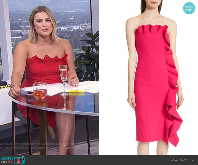 Marcy Dress by Cinq a Sept worn by Carissa Loethen Culiner (Carissa Loethen Culiner) on E! News
