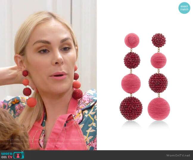 Classic Gypsy Dancer Earrings by Rebecca de Ravenel worn by Kameron Westcott  on The Real Housewives of Dallas