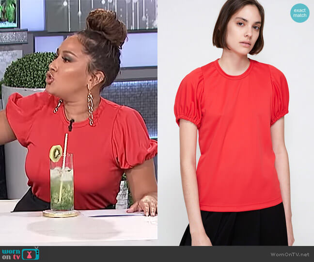 Puff Sleeve Top by Comme Des Garcons worn by Adrienne Houghton (Adrienne Houghton) on The Real
