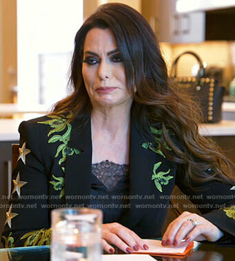 D'Andra's black Embroidered blazer on The Real Housewives of Dallas