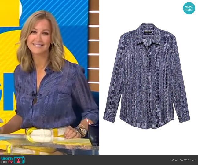 Dillon Shirt by Banana Republic worn by Lara Spencer  on Good Morning America