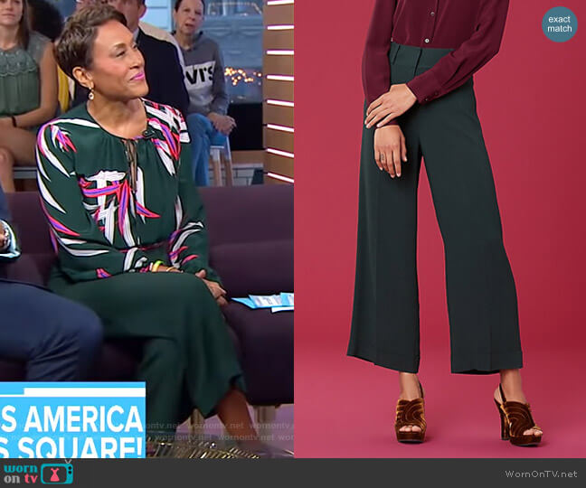 High Waisted Culotte by Diane von Furstenberg worn by Robin Roberts  on Good Morning America