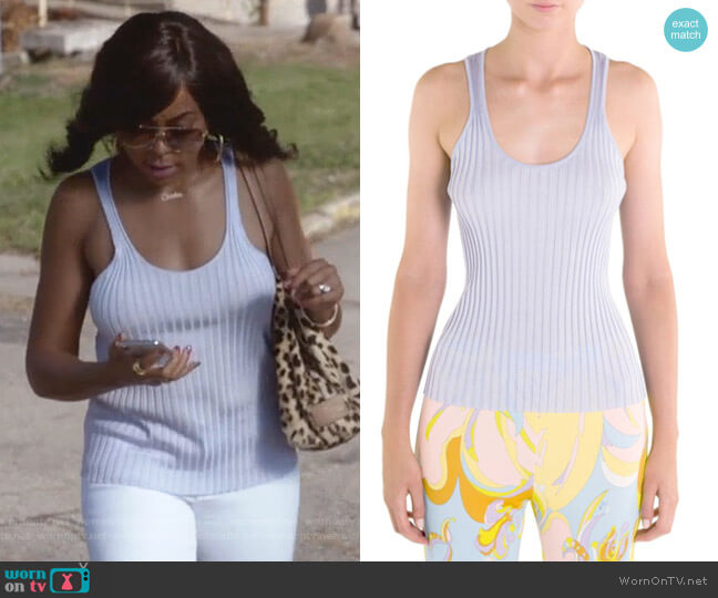 Ribbed Knit Tank Top by Emilio Pucci worn by Cookie Lyon (Taraji P. Henson) on Empire