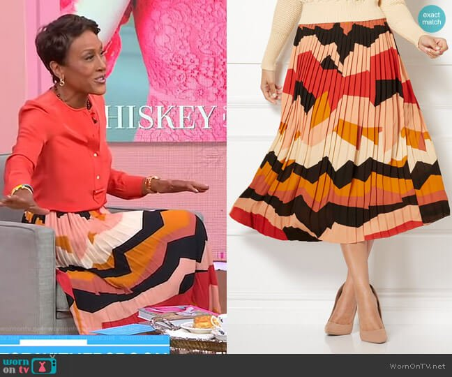 Gianna Skirt - Eva Mendes Collection by New York & Company worn by Robin Roberts  on Good Morning America