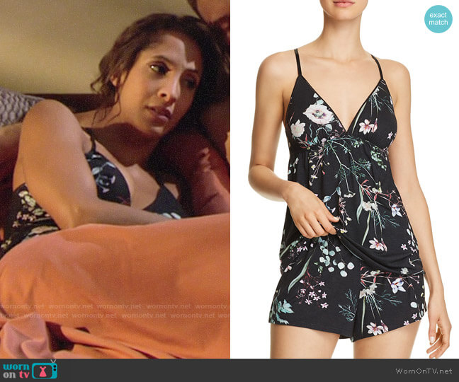 Flora Nikrooz Elena Cami Tap Short PJ Set worn by Christel Khalil on The Young & the Restless