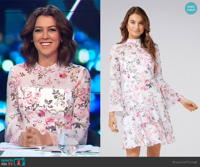 Archie Flare Sleeve Dress by Forever 21 worn by Gorgi Coghlan (Gorgi Coghlan) on The Project