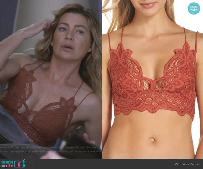 Meredith's bralette on Grey's Anatomy