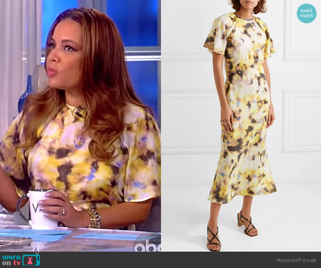 Acid Floral Organza Midi Dress by Georgia Alice worn by Sunny Hostin  on The View