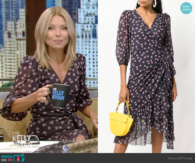Tilden Dress by Ganni worn by Kelly Ripa  on Live with Kelly & Ryan