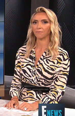 Giuliana's white animal print dress on E! News