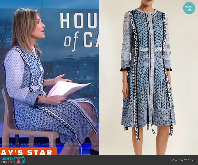 Grenelle Dress by Altuzarra worn by Savannah Guthrie on Today