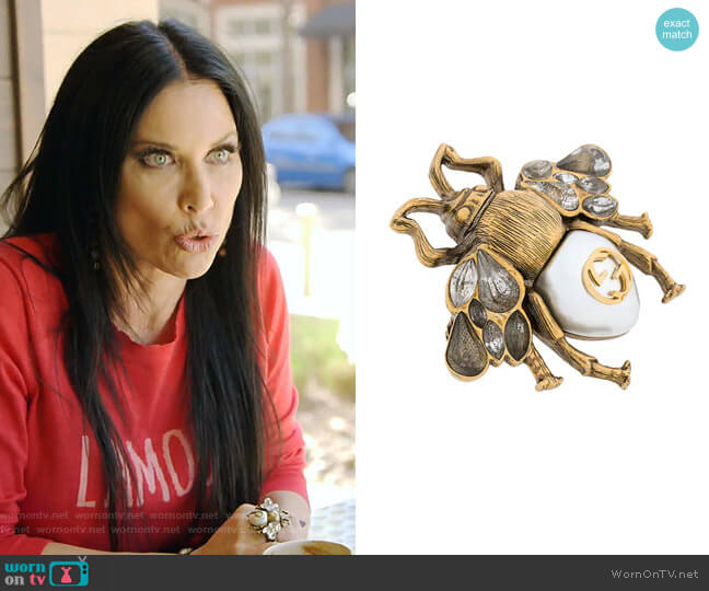 Multi-Finger Ring with Bee by Gucci worn by LeeAnne Locken  on The Real Housewives of Dallas