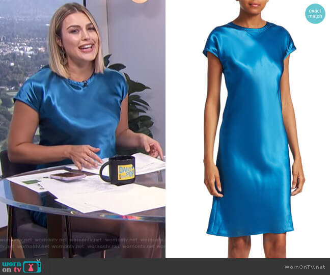 Viscose Short Dress by Helmut Lang worn by Carissa Loethen Culiner on E! News