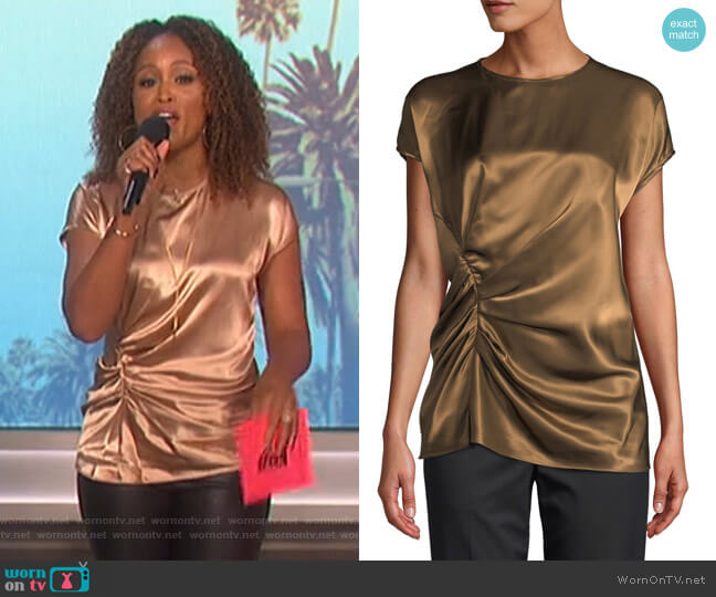 Gathered Viscose Crewneck Top by Helmut Lang worn by Eve (Eve) on The Talk