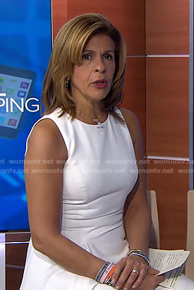 Hoda's white asymmetrical dress on Today