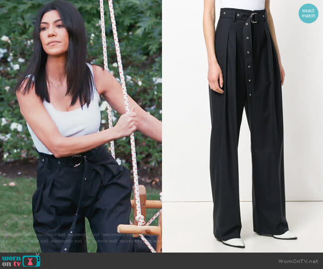 high-waist tailored trousers by IRO worn by Kourtney Kardashian on Keeping Up with the Kardashians