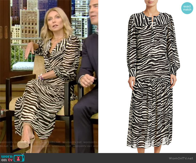 Jina Dress by Etoile Isabel Marant worn by Kelly Ripa on Live with Kelly & Ryan