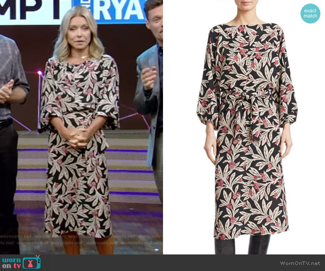 Lisa Dress by Isabel Marant Etoile worn by Kelly Ripa on Live with Kelly & Ryan