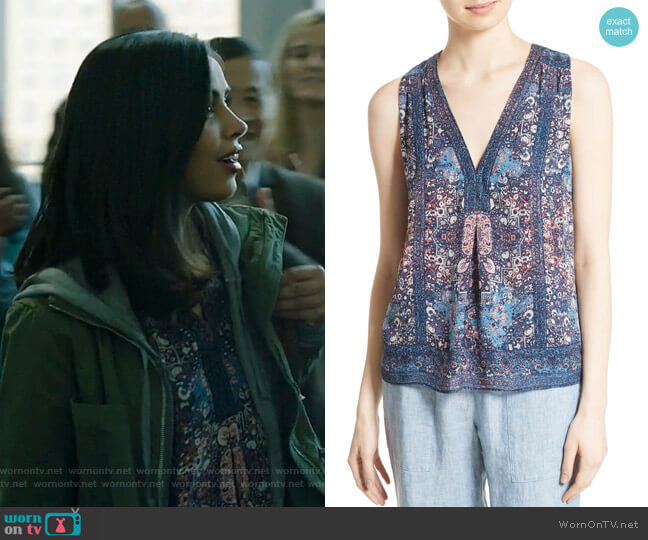 Adelcie Top by Joie worn by Saanvi (Parveen Kaur) on Manifest