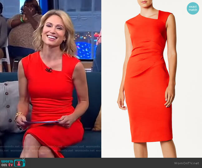 Asymmetric Neckline Dress by Karen Millen worn by Amy Robach  on Good Morning America