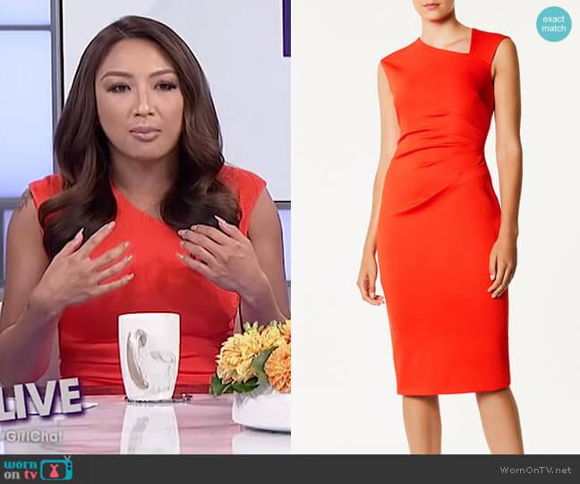 Asymmetric Neckline Dress by Karen Millen worn by Jeannie Mai (Jeannie Mai) on The Real