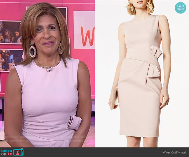 Bow Waist Midi Dress by Karen Millen worn by Hoda Kotb  on Today