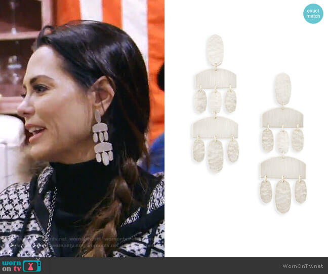 Emmet Earrings by Kendra Scott worn by D'Andra Simmons on The Real Housewives of Dallas