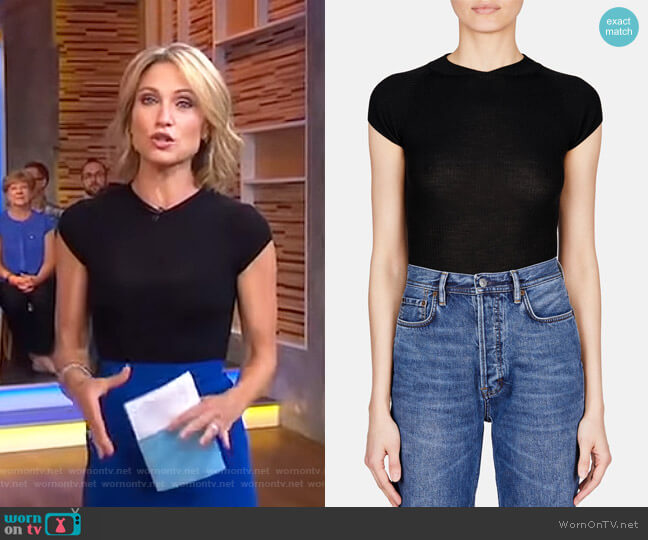 Anouk Bodysuit by Khaite worn by Amy Robach  on Good Morning America