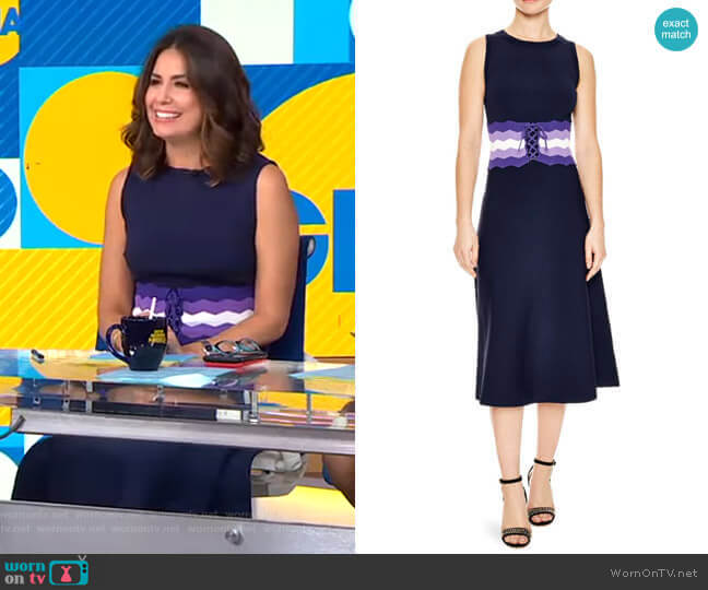 Kimiko Dress by Sandro worn by Cecilia Vega  on Good Morning America