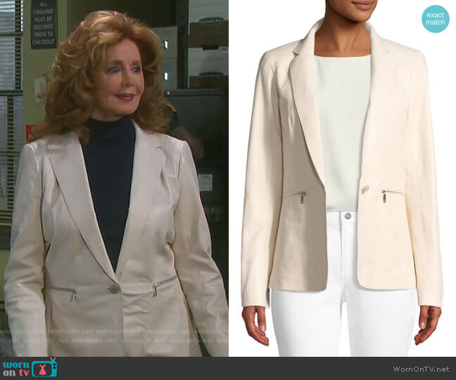 Lyndon Jacket by Lafayette 148 New York worn by Maggie Horton (Suzanne Rogers) on Days of our Lives