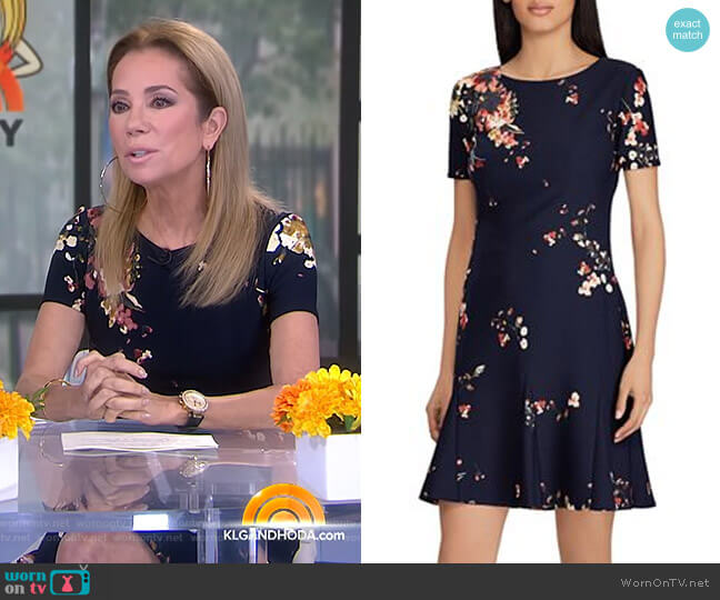 Floral-Print Crepe Dress by Lauren Ralph Lauren worn by Kathie Lee Gifford on Today