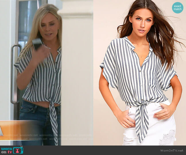 Newport Beach Striped Top by Lulus worn by Tamra Judge (Tamra Judge) on The Real Housewives of Orange County