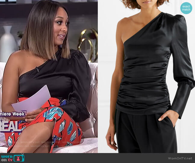 A Little After Ten top by Maggie Marilyn worn by Tamera Mowry on The Real