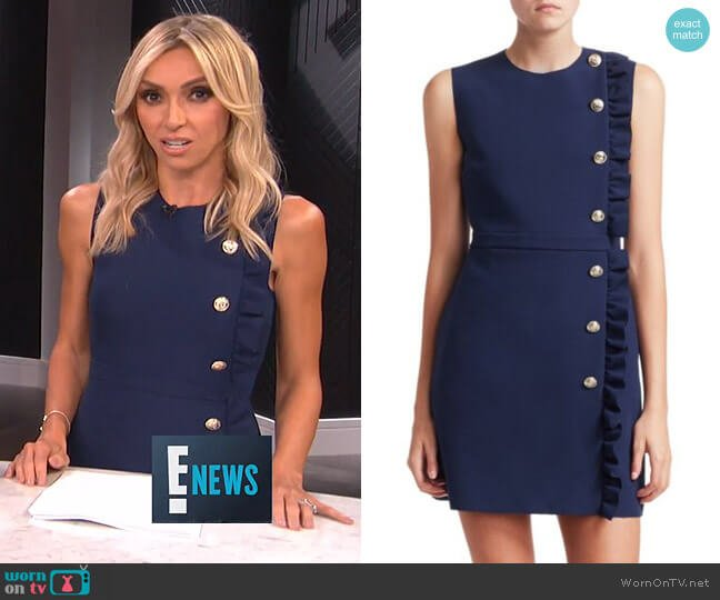 Crepe Side Ruffle Mini Dress by MSGM worn by Giuliana Rancic on E! News