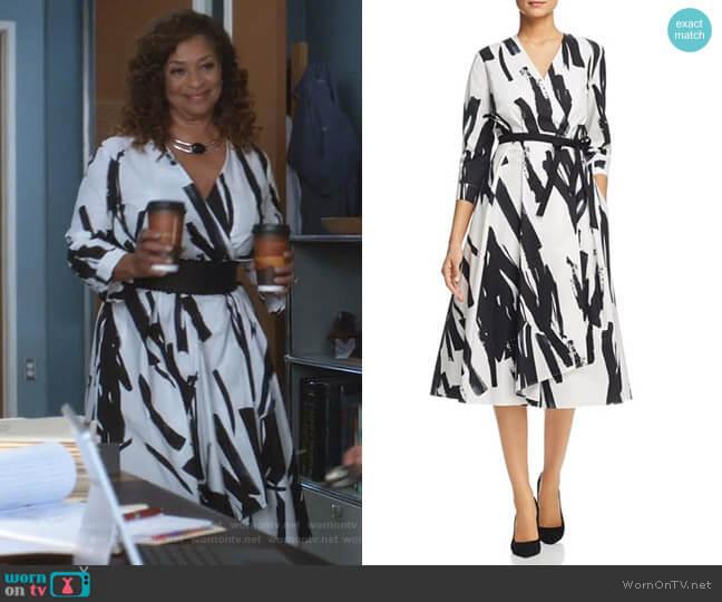 Cartone Dress by Weekend Max Mara worn by Catherine Avery (Debbie Allen) on Greys Anatomy