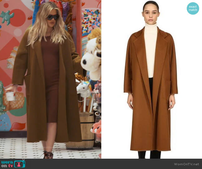 Labbro Coat by Max Mara worn by Khloe Kardashian  on Keeping Up with the Kardashians