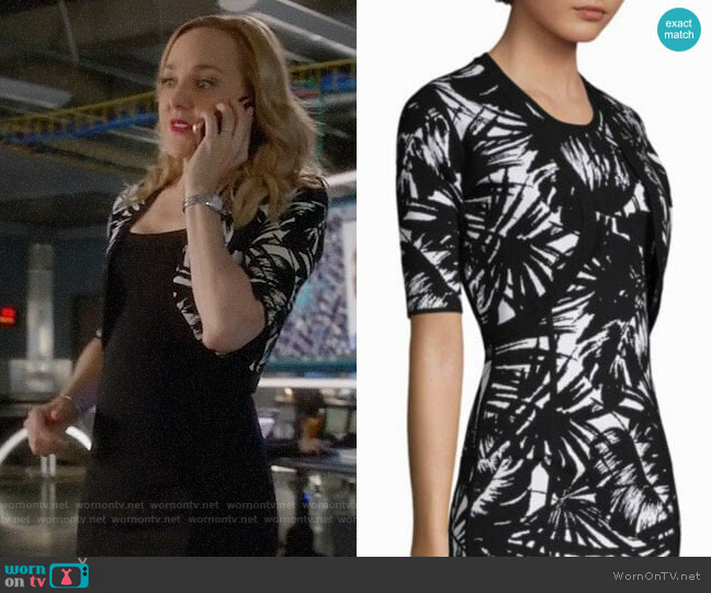 Michael Kors Collection Palm Leaf-Print Shrug worn by Marissa Morgan (Geneva Carr) on Bull