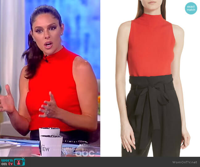 Mock Neck Tank by Milly worn by Abby Huntsman  on The View