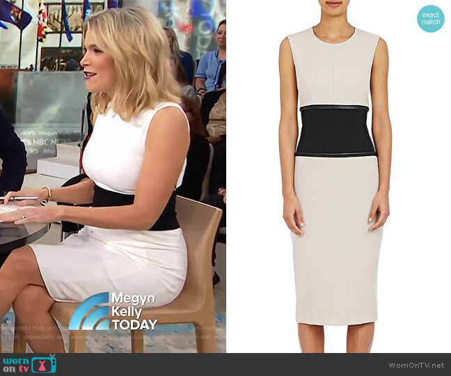 Fluid Gabardine Sheath Dress by Narciso Rodriguez worn by Megyn Kelly  on Today