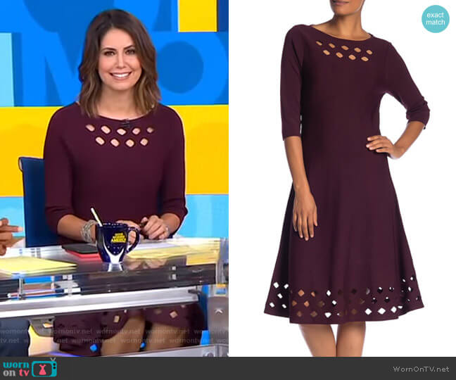 Time Out Dress by Nic + Zoe worn by Cecilia Vega (Cecilia Vega) on Good Morning America