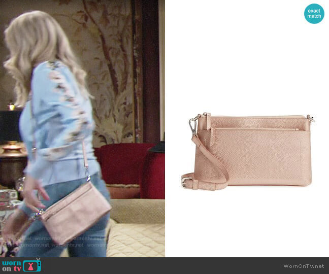 Nordstrom Brixton Convertible Leather Crossbody Bag worn by Abby Newman (Melissa Ordway) on The Young & the Restless
