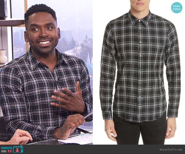 Check Sport Shirt by PS Paul Smith worn by Justin Sylvester on E! News