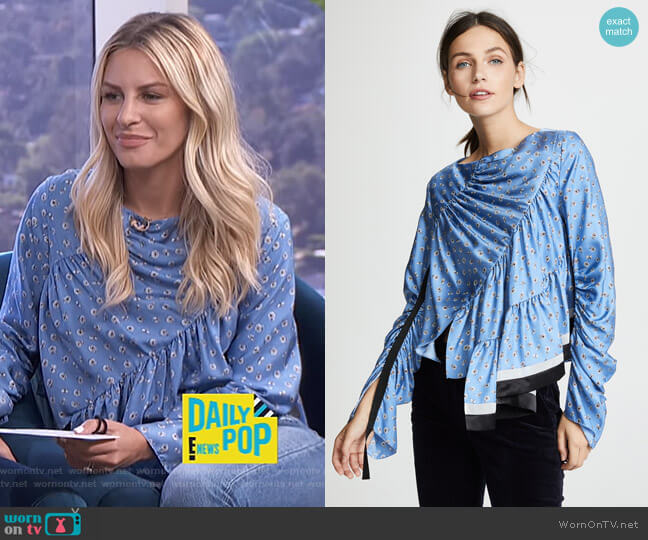 Daisy Layer Blouse by Phillip Lim 3.1 worn by Morgan Stewart on E! News