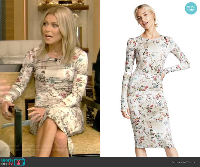 Sophie Dress by Preen By Thornton Bregazzi worn by Kelly Ripa on Live with Kelly & Ryan