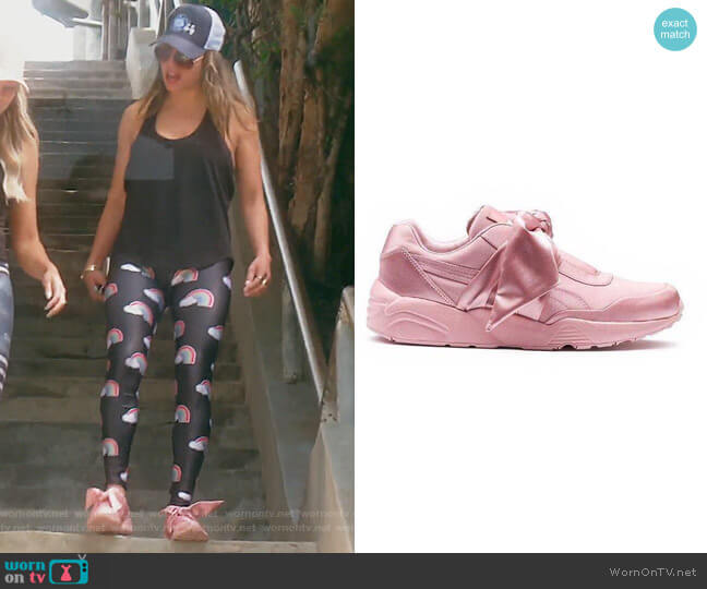 Rhianna Fenty Bow Sneakers by Puma worn by Kelly Dodd  on The Real Housewives of Orange County